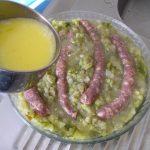 Gratin d'endives courgettes et saucisse
